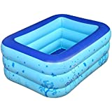 プール インフレータブルスイミングプール家族スイミングバケツホームスイミングプールプレイプールに適して3歳以上130×90×45センチ 庭 プール