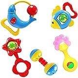 Blueseao 赤ちゃん用ガラガラ 握って振る 楽しいキャラクター 早期教育玩具 動物のハンドベル 発達玩具 ベル 子供 赤ちゃん ラトル 可愛い