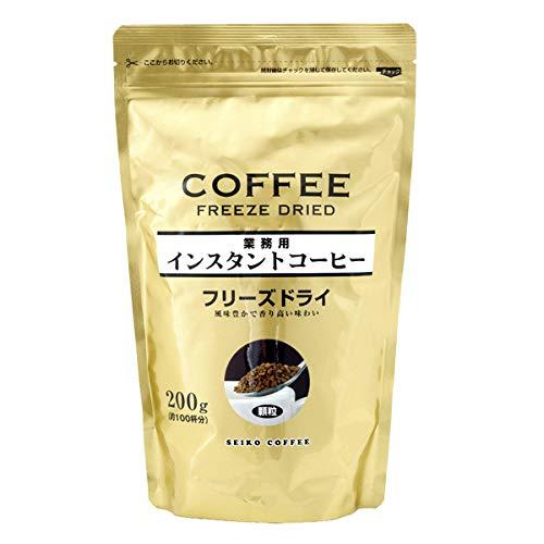セイコー珈琲 徳用 インスタントコーヒー フリーズドライ 200g×6袋+1袋サービス