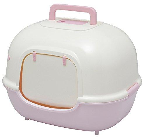アイリスオーヤマ 脱臭ワイド猫トイレ WNT-510 ミルキーピンク