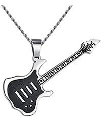 Ostory ファッション ギター メンズネックレス ペンダント サージカルステンレス ネックレス メンズ アクセサリー
