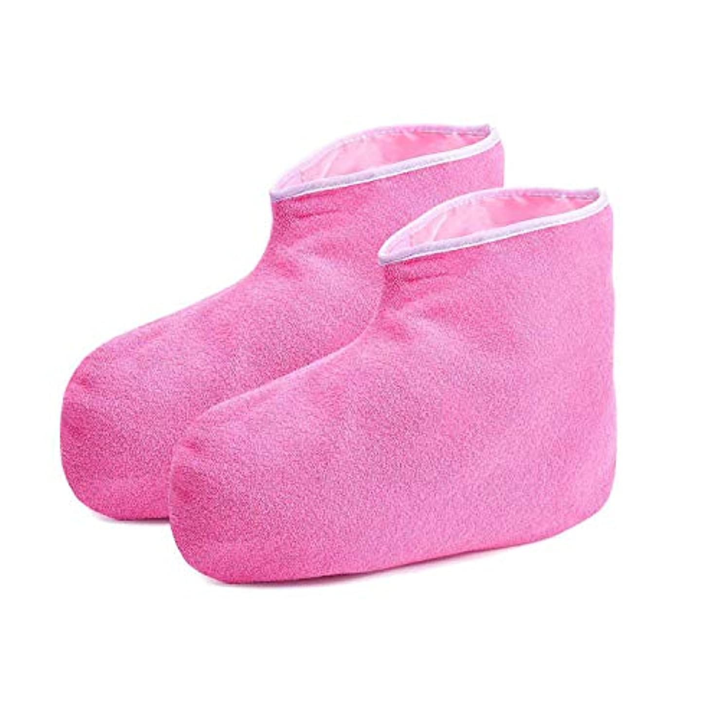 賞金額微視的Gaoominy パラフィン?ワックスのバス手袋とブーティ、保湿作業用手袋、フットスパのカバー、ハンドのトリートメントのキット、パラフィン?ワックスのウォーマー、女性用絶縁ミトン-ピンク