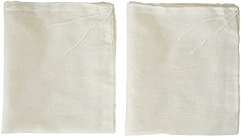 AUXIN™,Nut Milk Bags【2 PCS】,100% Cotton Cheesecloth Bags,Yogurt/Coffee/Tea Strainer,Reusable Almond Milk,Oat...
