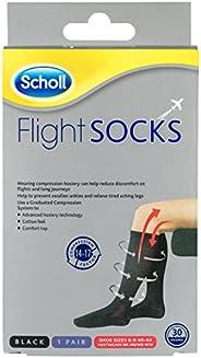 Scholl Flight Socks Compression Hosiery Black for Swollen Legs and Ankles W8-11 M6-9