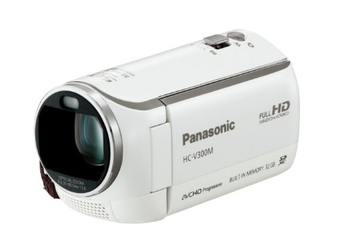 Panasonic デジタルハイビジョンビデオカメラ V300 内蔵メモリー32GB パールホワイト HC-V300M-W