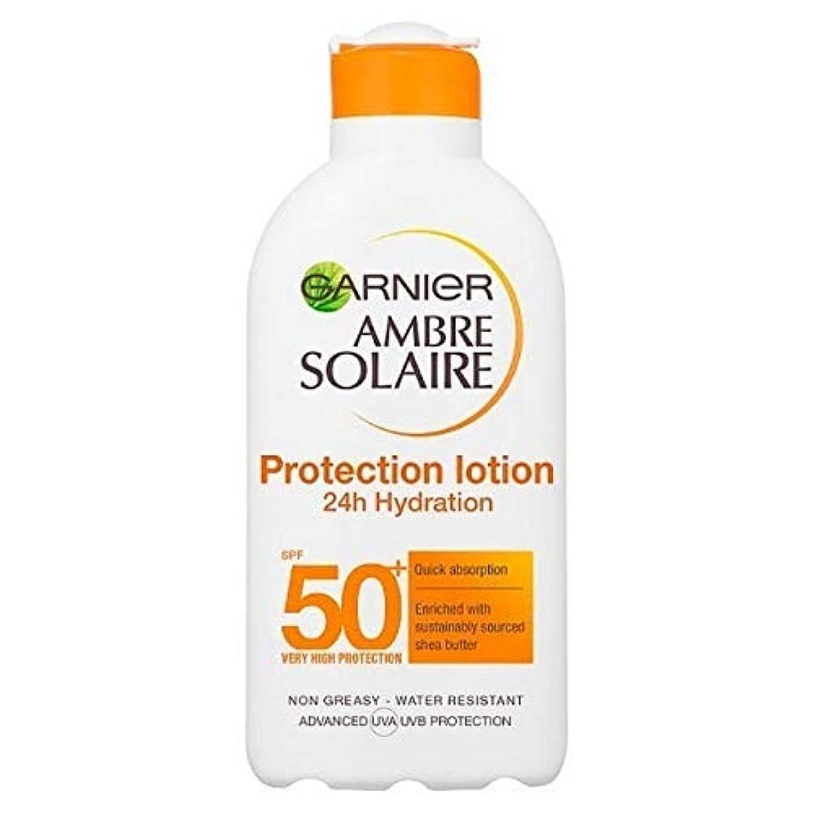 検出可能息苦しいケイ素[Garnier ] アンブレSolaire超水和サンクリームSpf50 + 200ミリリットル - Ambre Solaire Ultra-hydrating Sun Cream SPF50+ 200ml [並行輸入品]