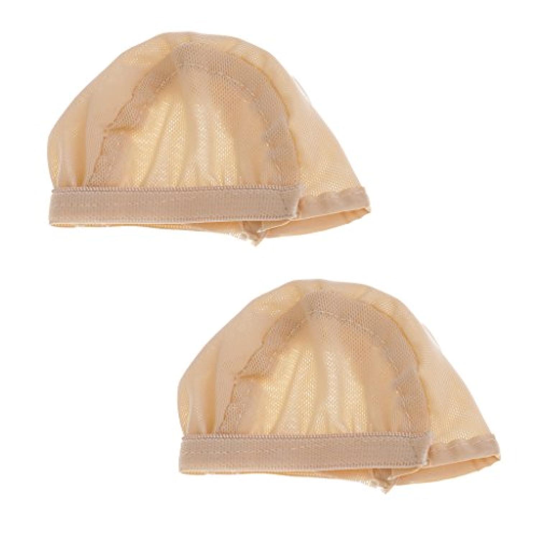 Fenteer 全2カラー 布製 人形ウィッグヘッドギア ウィッグキャップ ヘッド保護カバー 高品質 1/6スケール BJDドールのため 2個 - ヌード