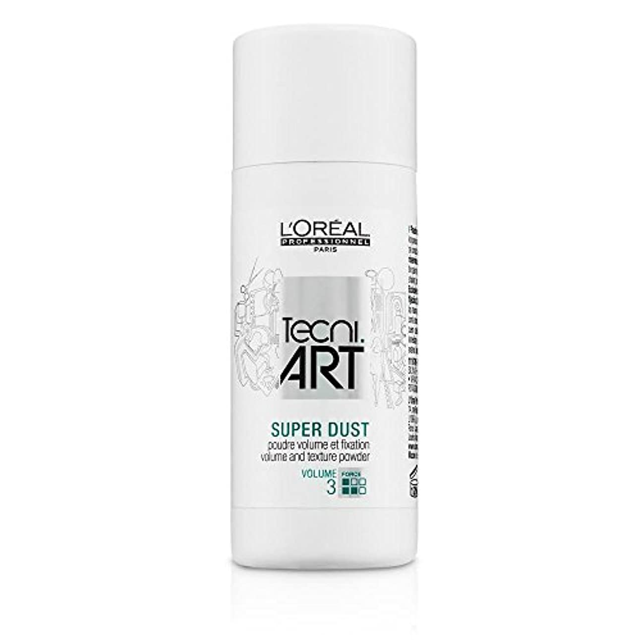 学習事務所チラチラするL'Oreal Tecni Art Super Dust - Volume And Texture Powder 7g [並行輸入品]