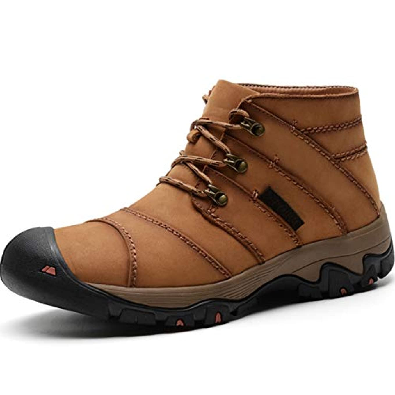 マイコンスピリチュアルプレゼンター[つるかめ] ハイキングシューズ ウォーキングシューズ 登山靴 メンズ トレッキングシューズ アウトドアススニーカー 大きいサイズ 牛革 防滑 抗菌 透湿