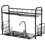 Stainless Steel Single Tier Single Layer Dish Rack Over Sink Dish Drying Rack Counter Top Dish Storage Rack Dish Drying Rack