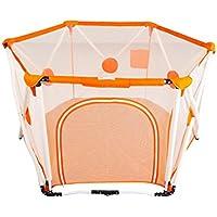 フェンスオレンジ赤ちゃん遊びフェンス安全フェンス赤ちゃん屋内遊び場フェンス赤ちゃんフェンス幼児フェンス (Color : Orange, Size : 150 * 150 * 82.5CM)