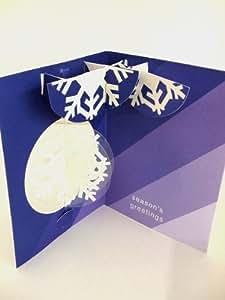 飛び出るカード 8枚入り POP-UP CARD/Spring Snowflake AJ-223