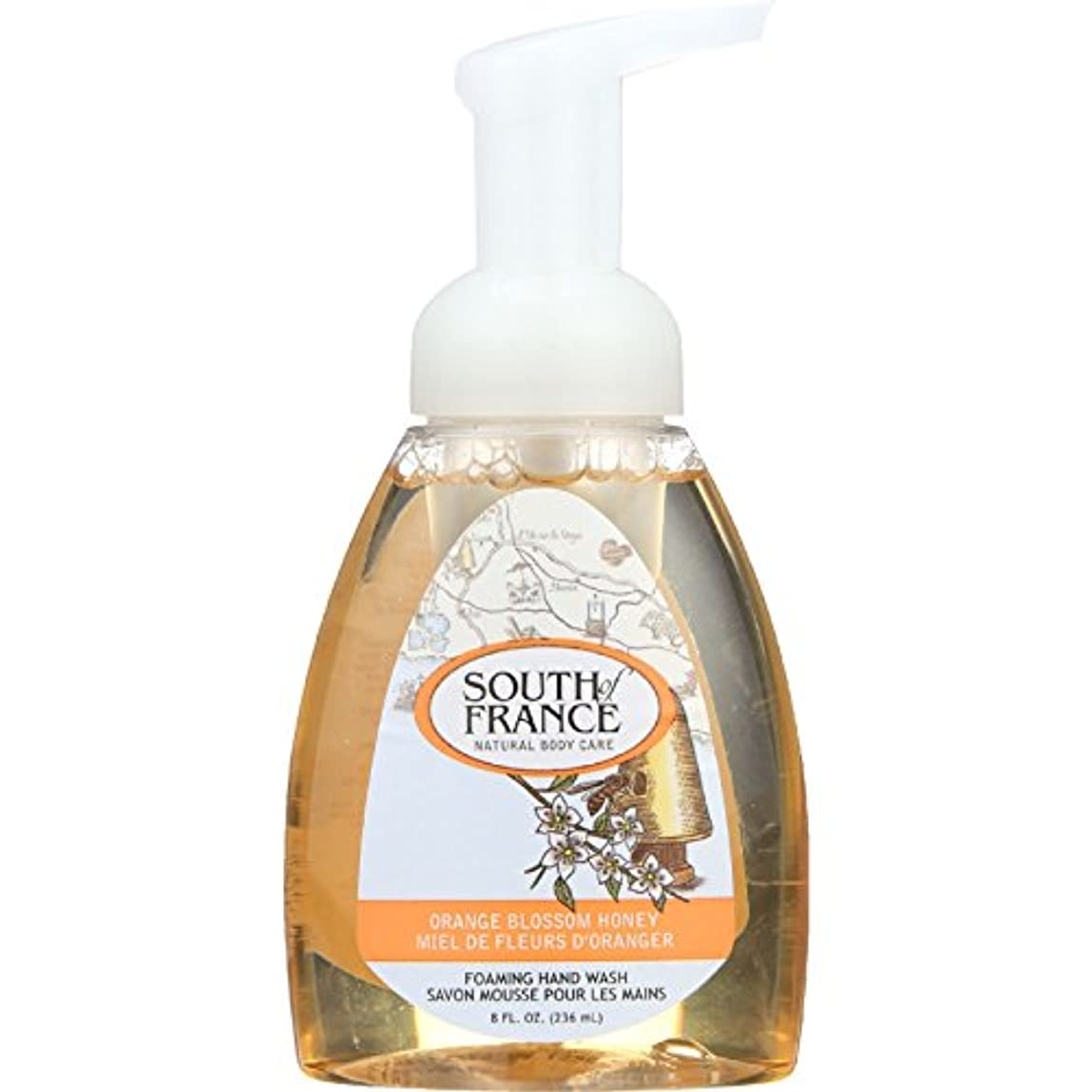 弱める期間同一性Hand Soap - Foaming - Orange Blossom Honey - 8 oz - 1 each by South Of France