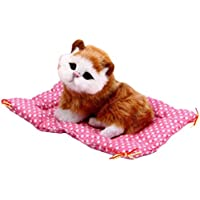 colorido LovelyシミュレーションSleeping Cats Plush Toy with Sound子供誕生日ギフト M イエロー 22450-Colorido
