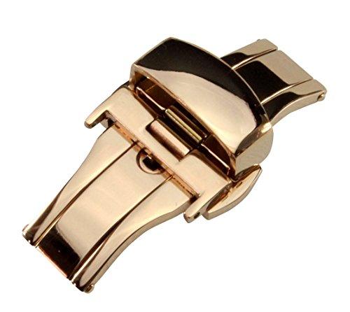 Dバックル プッシュボタン式 観音開き 腕時計用尾錠 簡易工具付属