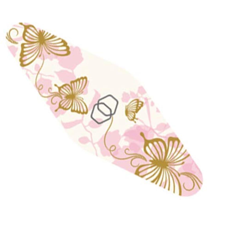バッジ行進上陸ダイヤモンドネイルファイル キャリー ピンク蝶々