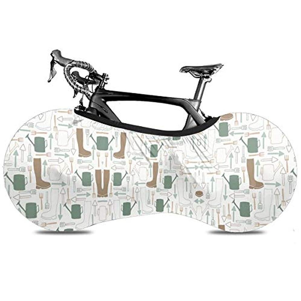 証明する探偵厚い自転車カバー ジョウロ 叉 シャベル 靴柄 サイクルカバー 自転車収納カバー 自転車ホイールカバー 防風 防塵 Uvカット 破れにくい 厚手で丈夫 マウンテンバイク 伸縮性 屋内チェーンホイールプロテクター