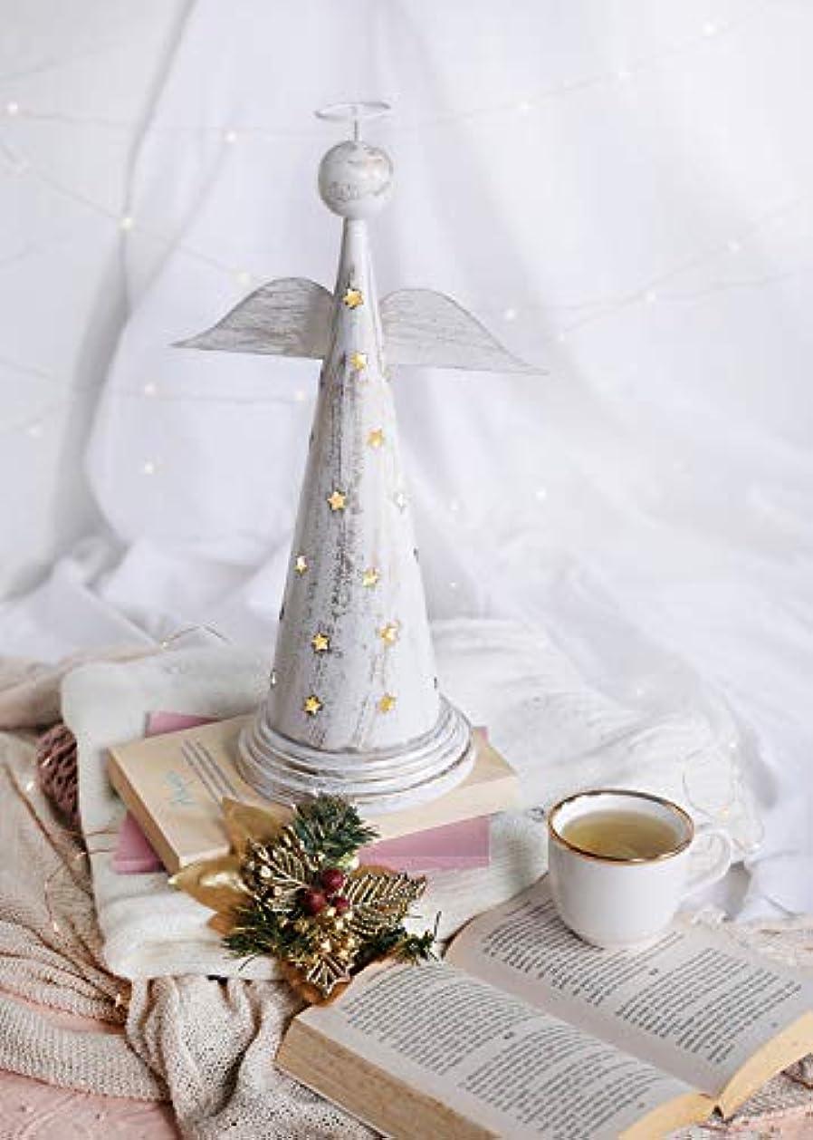 エスニック配分ワークショップstoreindya 感謝祭ギフト 天使の形をした金属製お香塔 クリスマス ホームデコレーション アクセサリーオーナメント 新築祝いのギフトに最適