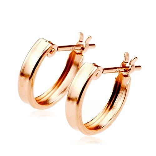 [해외]nadi K18PG 10mm 18K 화이트 골드 후프 귀걸이/nadi K18PG 10mm 18k gold pink gold hoop earrings