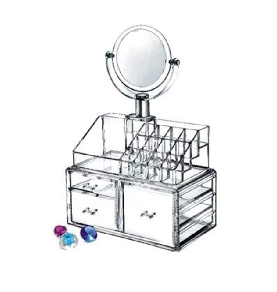 誘う硬さシンク多層引き出しタイプデスクトップ収納ボックス化粧品ケース透明化粧品収納ボックススキンケア収納ラック3グリッド