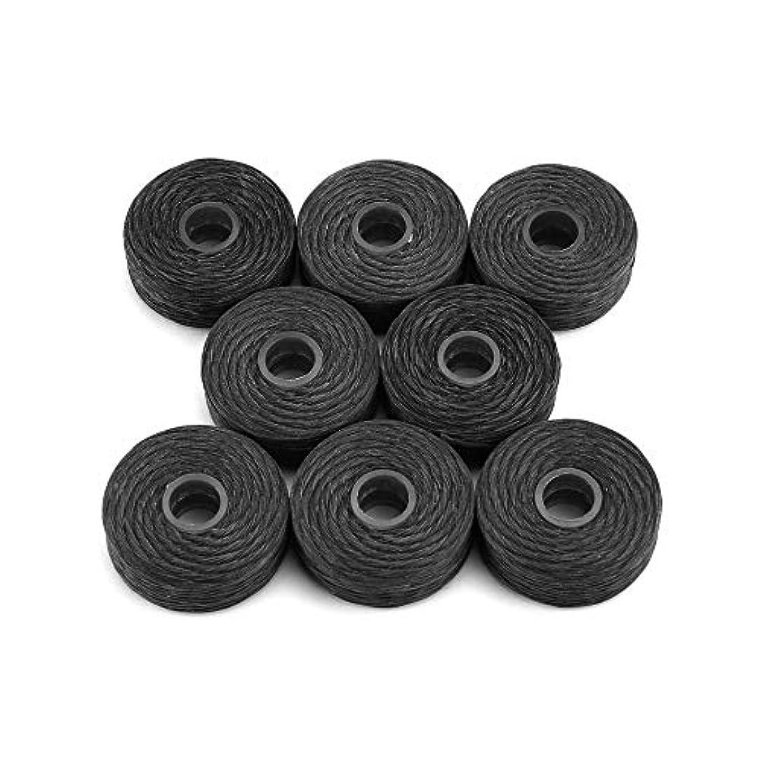 ゲインセイ最大置換8ロール50メートル竹炭デンタルフロッサークリーニングミントフレーバーつまようじフロッサーデンタルクリーニング歯フロススティックブラック(Color:black)