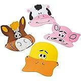 12 Foam Farm Animal Visors - Fun Party Hats by OTC