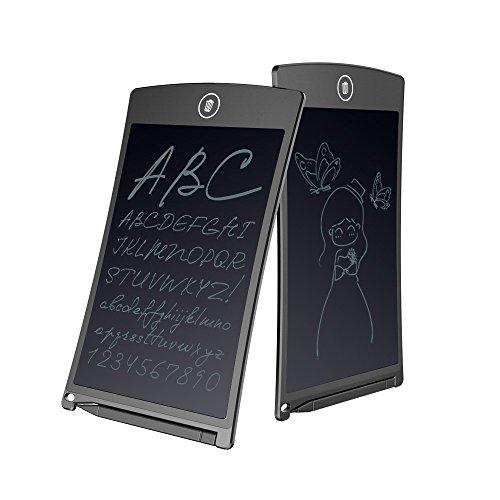 電子パッド LCD デジタルメモ スタイラス付き 薄型4mm 電子手帳 磁石付き ワンタッチ 文房具 家、オフィス、学校などのに対応 (8.5インチ)