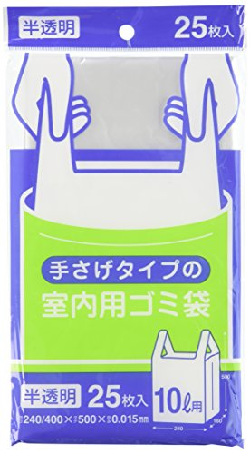 室内用ゴミ袋 10L 半透明 25枚入 Y18C