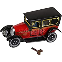 Wind Up ClockworkヴィンテージモデルTaxi Car and Driver Tin Toy Collectibleギフト
