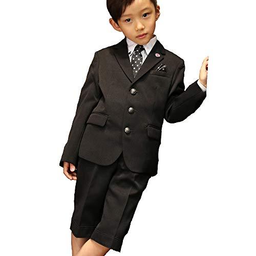 MICHIKO LONDON (ミチコロンドン) 6点セット クレリックシャツのブラックスーツ (120, シャツ:ストライプ)