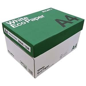 キラット ホワイトエコペーパー A4サイズ 1箱 5000枚 (500枚×10冊)