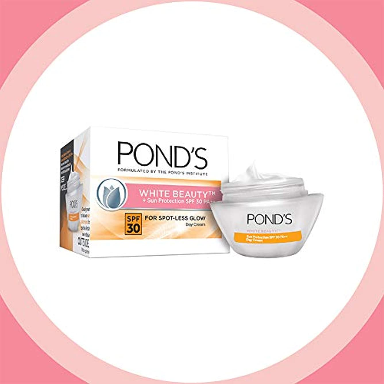 エーカー楽観細分化するPOND'S White Beauty Sun Protection SPF 30 Day Cream, 35 gms (並行インポート) India