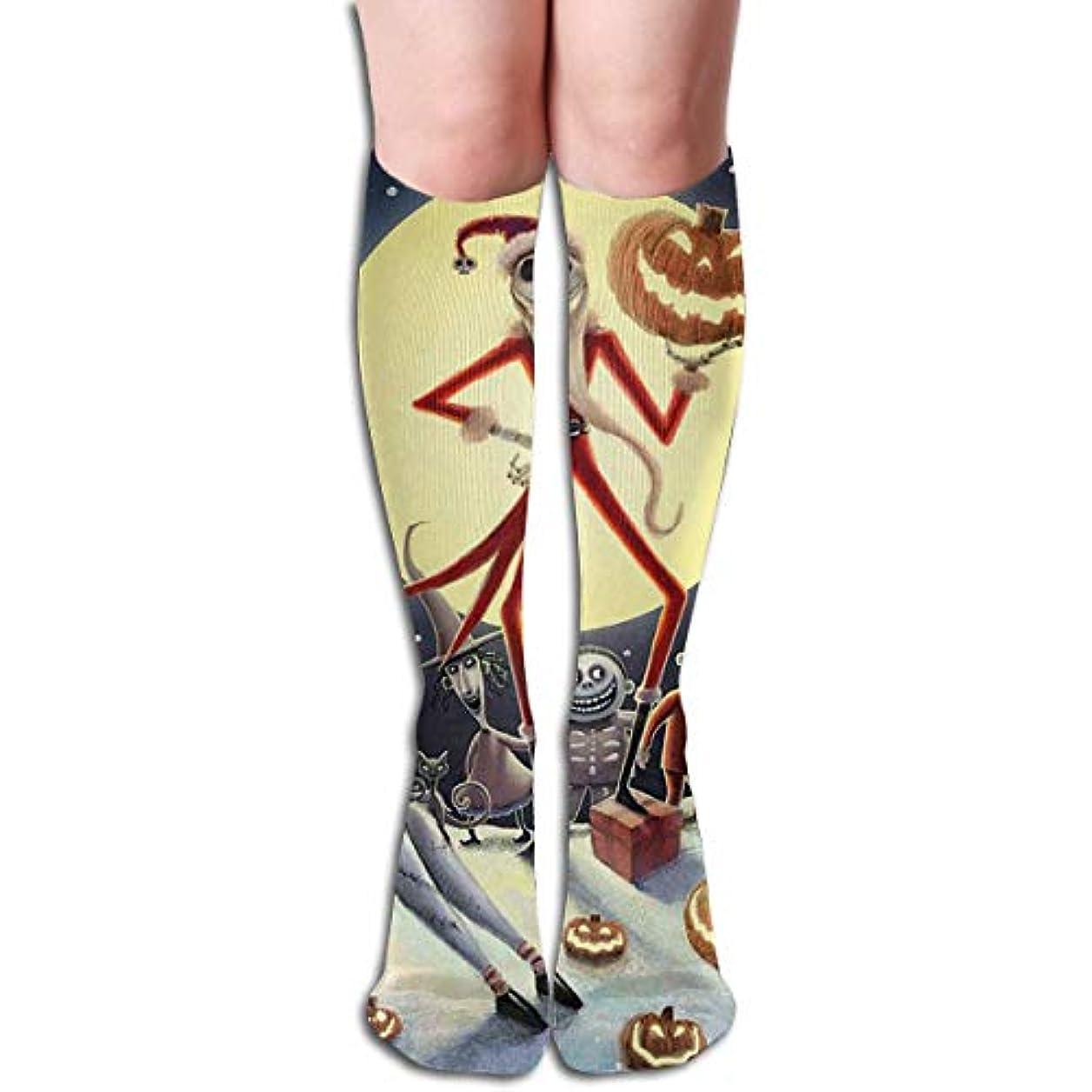 道路を作るプロセス無条件アライメントqrriyジャックスキレントンサンタチューブストッキングレディース冬暖かい膝ハイソックスブーツ靴下