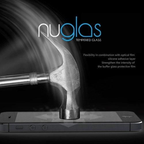 nuglas 強化ガラス液晶保護フィルム iPhone5,5C,5S用強化保護フィルム 衝撃吸収 硬度9H 液晶保護シール