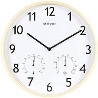 時計の壁時計目覚まし時計時計のない壁時計時計クォーツ時計数字の芸術品と工芸品新しい中国のミュートクォーツ木製の温度と湿度古典的なリビングルームベッドルーム