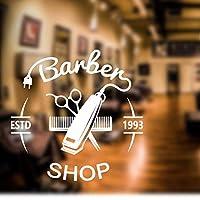 Lixiaoer バーバーショップステッカーパンデカール散髪バリカンシェーバーポスタービニールウォールアートデカール装飾窓の装飾50×50センチ
