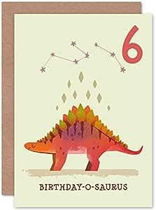 Dinosaur Boys 4th Birthday Card Apatosaurus
