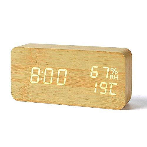 FiBiSonic® デジタル 置き時計 LED 目覚まし時計...