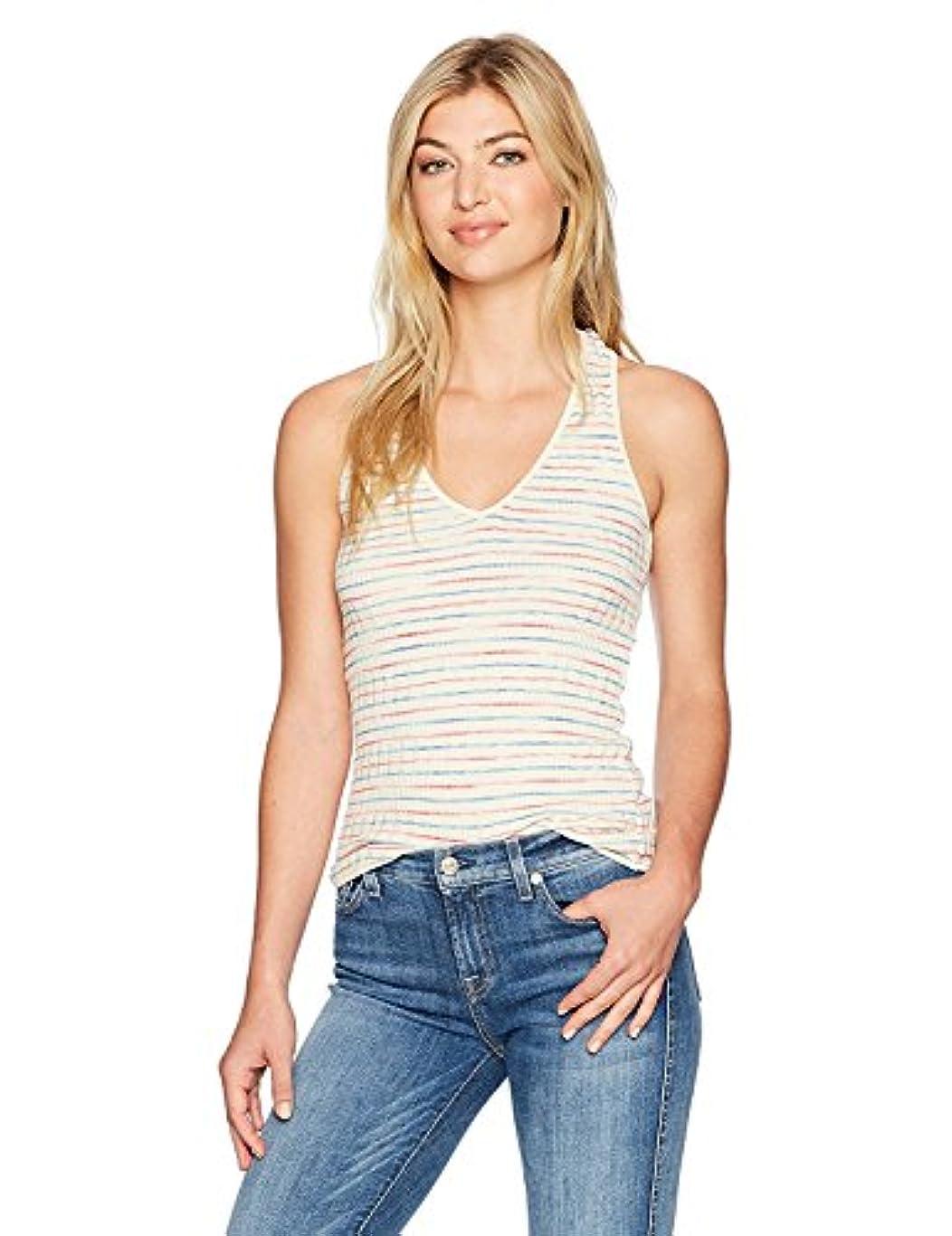 法王狂乱葉Splendid Women's Stripe Rib Knit Tank Ecru XS [並行輸入品]
