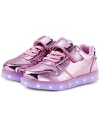 (ダント) Dannto スニーカー キッズ 発光シューズ LEDスニーカー LEDシューズ 7色 光る靴 超可愛い USB充電式 スポーツシューズ ボーイズ ガールズ 子供用 カジュアル シューズ