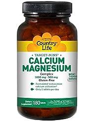 Country Life ターゲット ミネラル カルシウム マグネシウム 複合体 180錠 【アメリカ直送】
