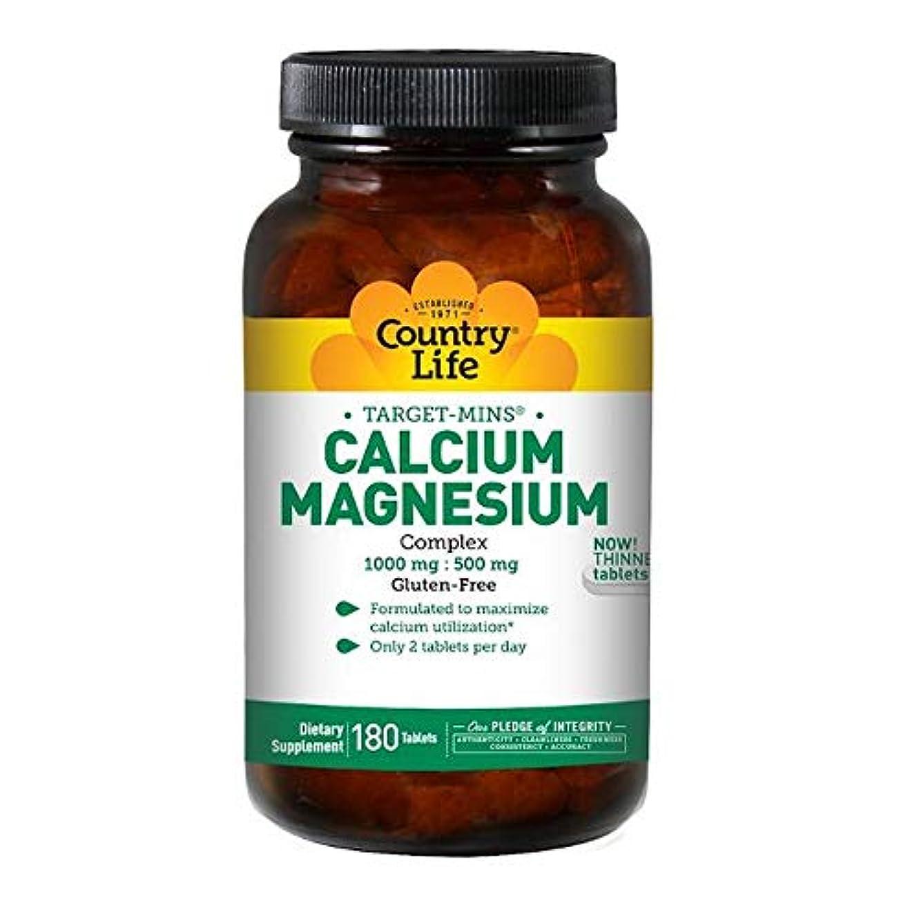 崩壊直立強打Country Life ターゲット ミネラル カルシウム マグネシウム 複合体 180錠 【アメリカ直送】