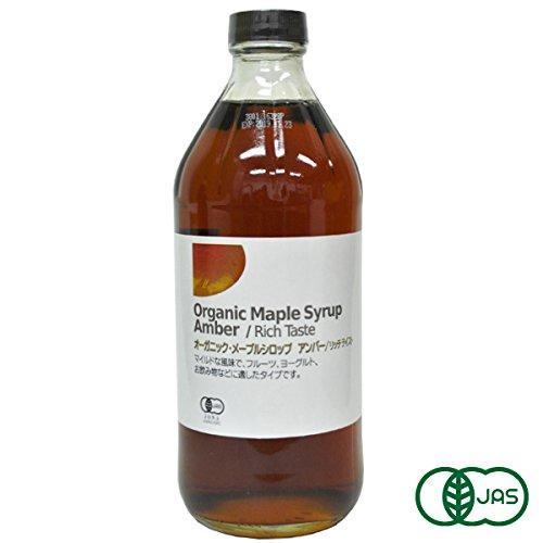 有機JAS認証 オーガニック・メープルシロップ Amber / Rich Taste(アンバー・リッチテイスト)無添加・砂糖不使用。カナダ産