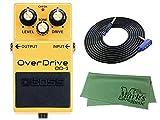 BOSS OverDrive OD-3 + 3m ギターケーブル VOX VGS-30+クロス セット