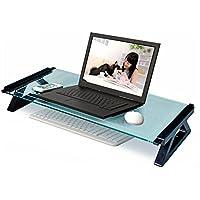 DS- ノートブッククーラー デスクトップコンピュータモニター、増設デスクトップストレージボックス、ガラスオフィスノートブック、56.8cm * 21cm * 9cm && (サイズ さいず : A)