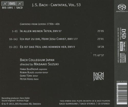 J.S.バッハ : カンタータ全集 Vol.53 (Johann Sebastian Bach : Cantatas Vol.53 ~ Ich ruf zu dir, Herr Jesu Christ | Cantatas 9 , 97 , 177 / Masaaki Suzuki , Bach Collegium Japan) [SACD Hybrid] [輸入盤]