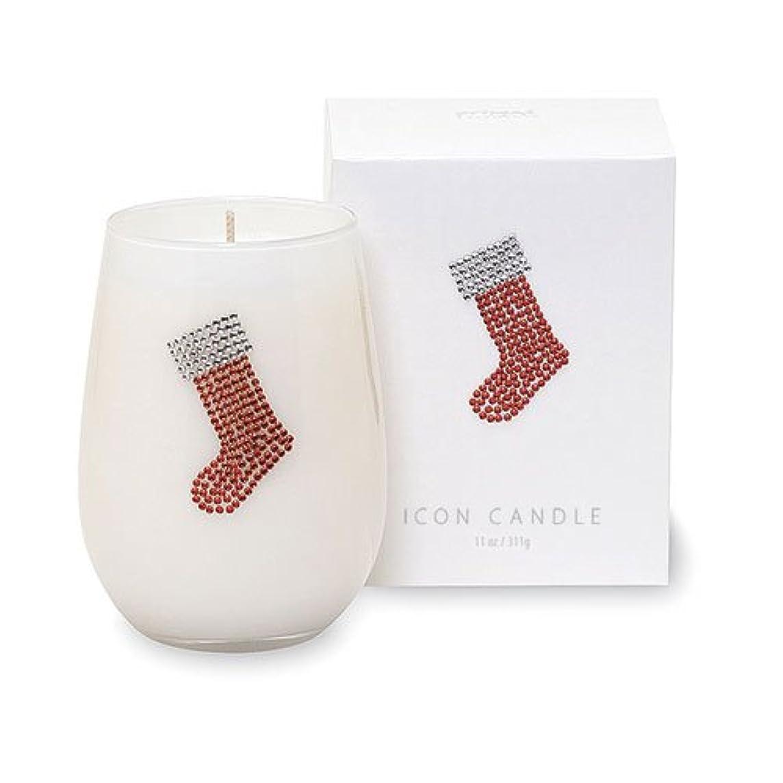 避難する物質クレデンシャルクリスマスアイコンキャンドル/くつ下ウィンターミントの香り キャンドル