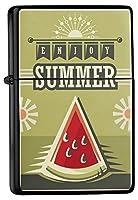 Pocket Windproof lighter ライター Brushed Oil Refillable Enjoy summer