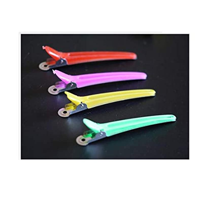 過半数回るアルカイック100個のヘアクリップ - プロの滑り止め多色プラスチックアヒルの歯は滑り止めの人間工学に基づいたデザインのヘアクリップ - 女性、子供、赤ちゃん、そして女の子のためのワニのヘアスタイリング。 ヘアケア (色 : Mutiple...