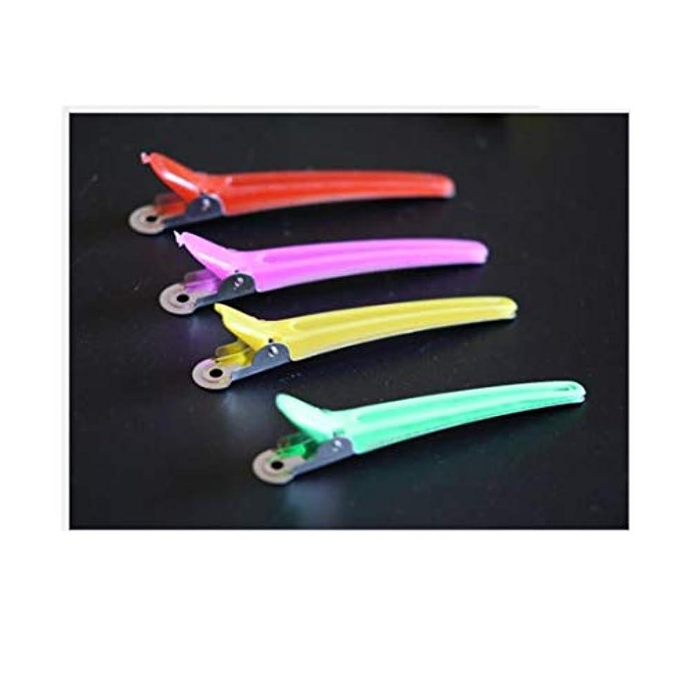 サリーアンビエント偏心100個のヘアクリップ - プロの滑り止め多色プラスチックアヒルの歯は滑り止めの人間工学に基づいたデザインのヘアクリップ - 女性、子供、赤ちゃん、そして女の子のためのワニのヘアスタイリング。 モデリングツール (色 :...